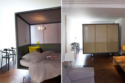 appartement avec lit clos a part a. Black Bedroom Furniture Sets. Home Design Ideas
