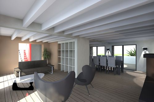 Maison lg agencement int rieur carnac franck labbay for Entreprise de renovation interieur