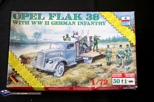 esci 8612 - Ople Flak 38 with WWII german infantry