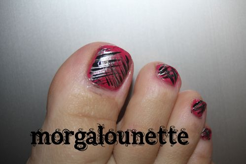 nail art pied morgalounette fan brush