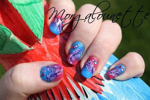nail art plume morgalounette (1)