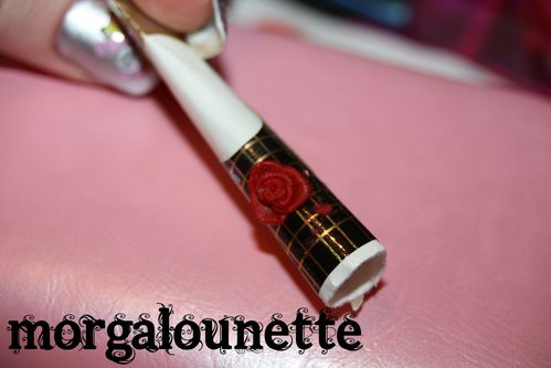 morgalounette nail art rose 3D