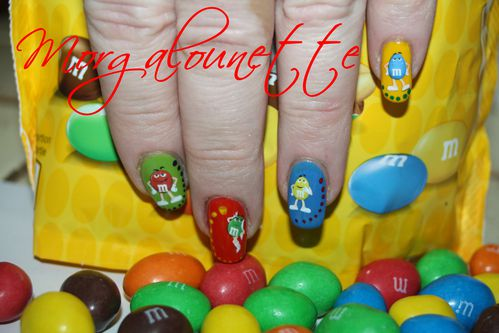 nail art mm's morgalounette