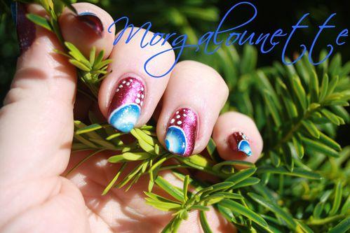 nail art quart de cercle one stroke morgalounette