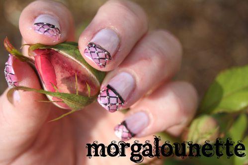 nail art résille morgalounette