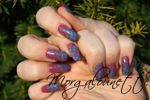 nail art bicolore au dot morgalounette (7)