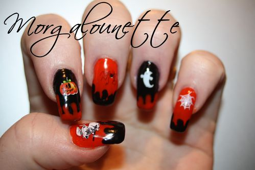nail art halloween morgalounette WD lm cosmetic (1)