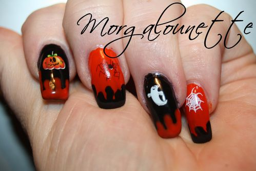 nail art halloween morgalounette WD lm cosmetic (2)
