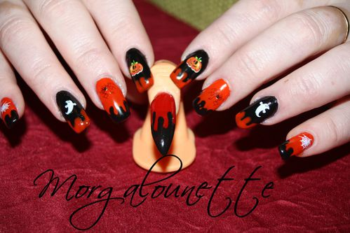 nail art halloween morgalounette WD lm cosmetic (5)