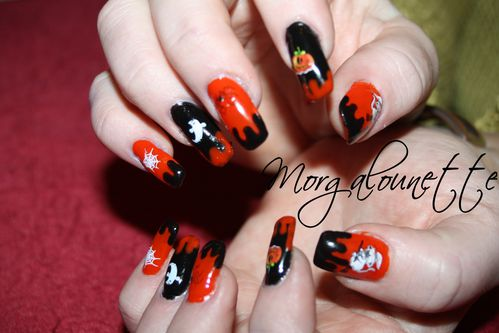 nail art halloween morgalounette WD lm cosmetic (6)