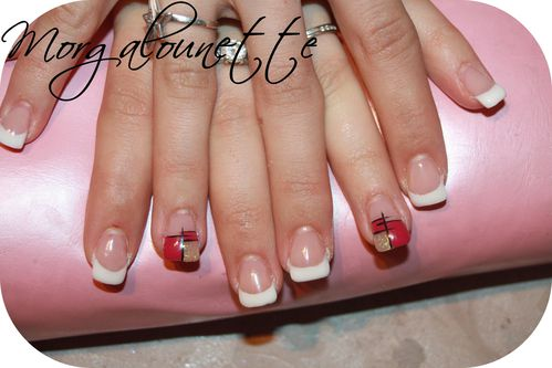 pose gel nail art graphique Morgalounette (1)