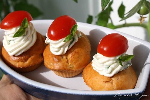 cupcake thon tomate basilic