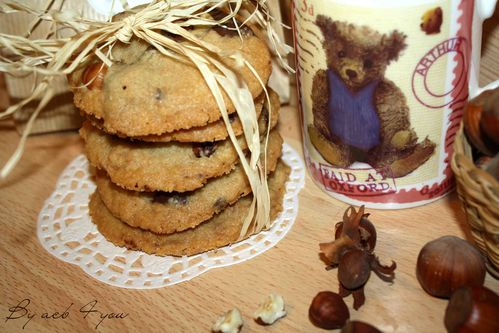 cookies choco noisette a