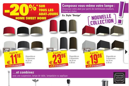 brico home sweet home abat-jours