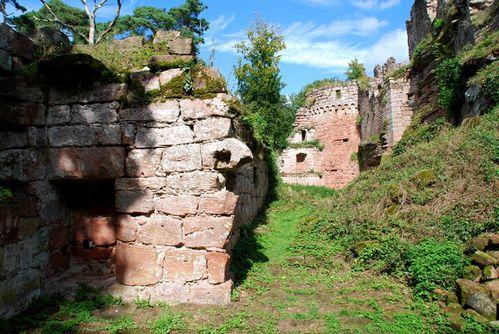 K12 - ruines chat Wineck - de Wittschloessel - de Schoeneck