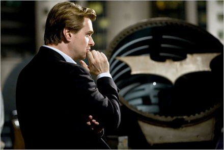 Christopher Nolan sur le tournage de Batman Begins