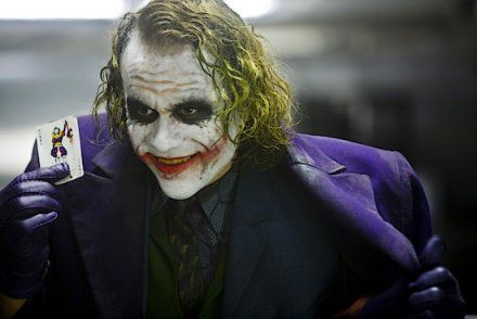 The Dark Knight de Christopher Nolan : le Joker Heath Ledger