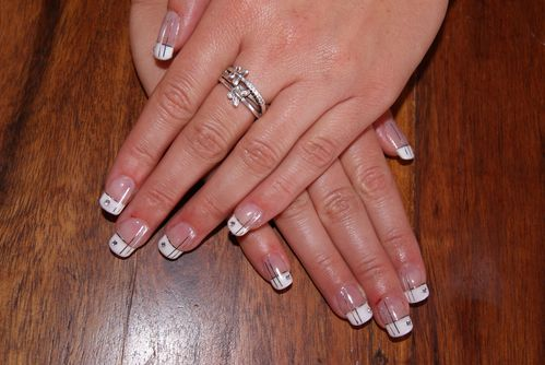 faux ongles avec strass