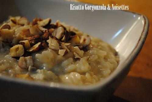 risotto gorgonzola noisettes