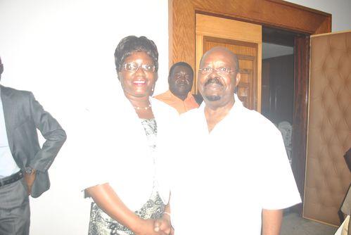 madame Sylvie Ntsame et monsieur Paul Mba Abessolo