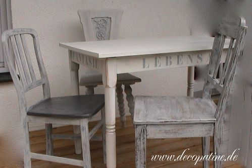 french chic deco patine workshops zum relooking von m beln im shabby chic french chic. Black Bedroom Furniture Sets. Home Design Ideas