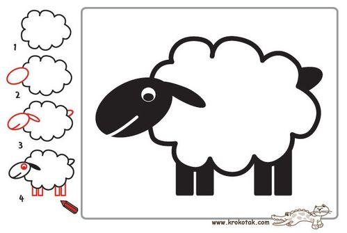 Dessine moi un mouton 4 choisis la vie - Mouton a dessiner ...