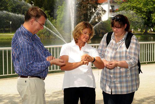 Christiane und Wolfgang messen Puls 03 08 11