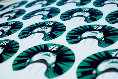 Sticker rond 1