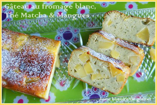 gâto fromage blanc matcha