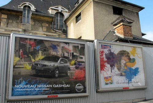 Nissan Qashqai affiche splash mtro 5