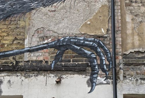 Londres Hanbury street-art Roa hron 1