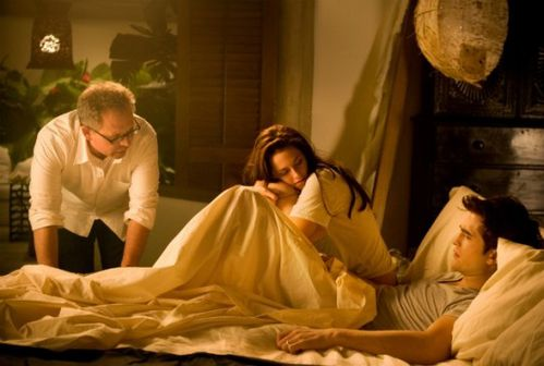 Le-realisateur-Bill-Condon-Robert-Pattinson-et-Kristen-Stew