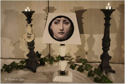 lampe opaline visage fornasetti