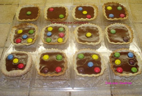 Tartelettes aux Carambars Version Dominos