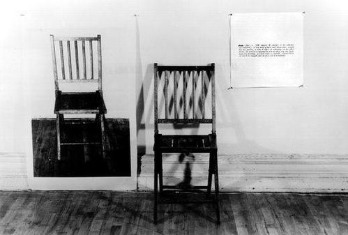 Kosuth Joseph 1965 One and Three Chairs