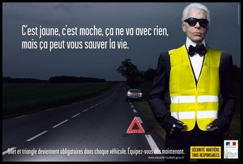 Karl lagarfeld Sécurité Routière jpg