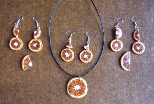 Parures oranges séchées