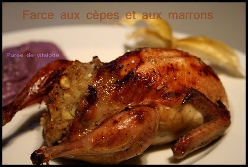 cailles farcies cèpes & marron (4)