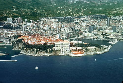 Vue aérienne de Monaco