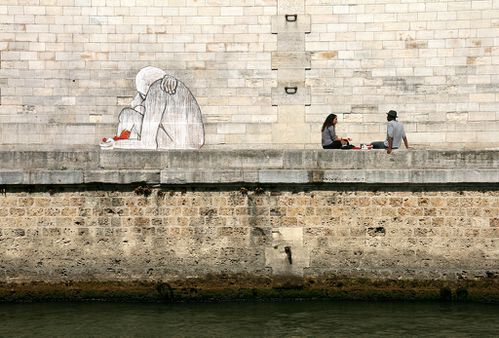 Collages sur les quais 4541