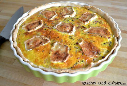 tarte courgettes lardons chèvre