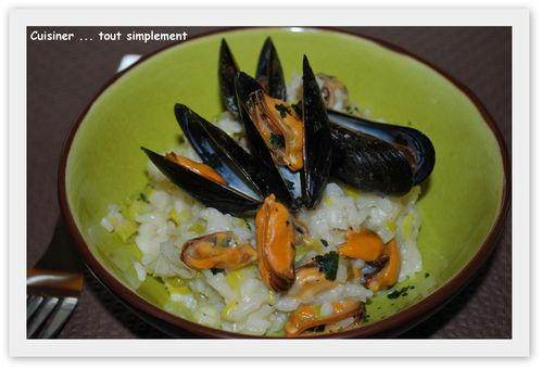 risotto poireau moules2
