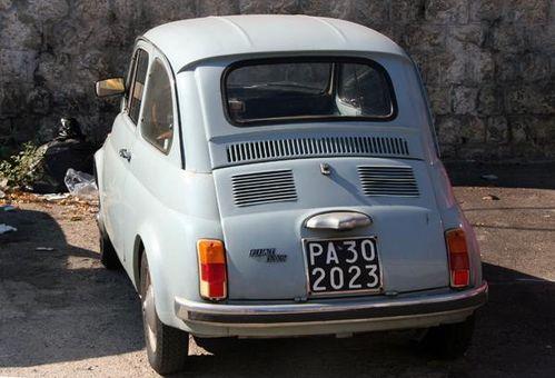 569i Palerme, la Fiat 500 d'Angelo Di Garbo