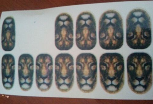 nail patchs lion (2)