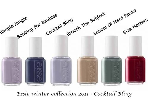 essie winter cocktail bling collection 2011