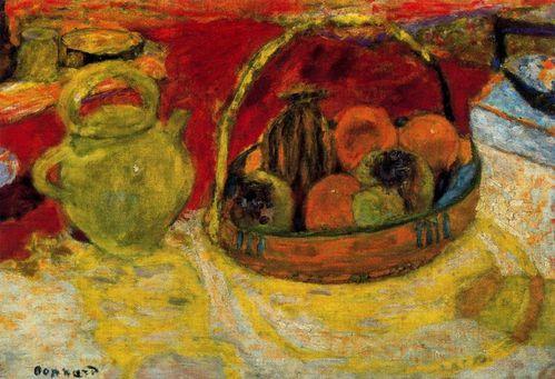 1931 Pierre Bonnard - Nature morte jaune et rouge