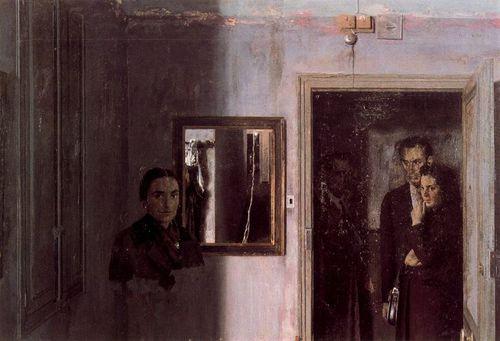 15. Antonio Lopez Garcia 1967 Figuras en una casa Fondation
