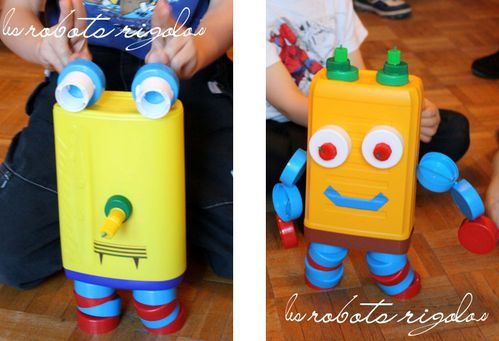 les robots rigolos recyclage de bouchons en plastique by acb 4 you. Black Bedroom Furniture Sets. Home Design Ideas
