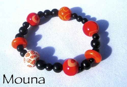 Bracelet L'orange rouge 4 DISPONIBLE: 18 euros.