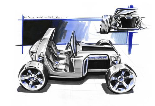 hot rod Ford t concept
